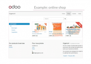 odoo website builder online shop