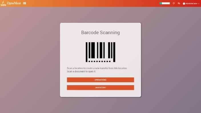 optomeat meat processing software barcode scanner