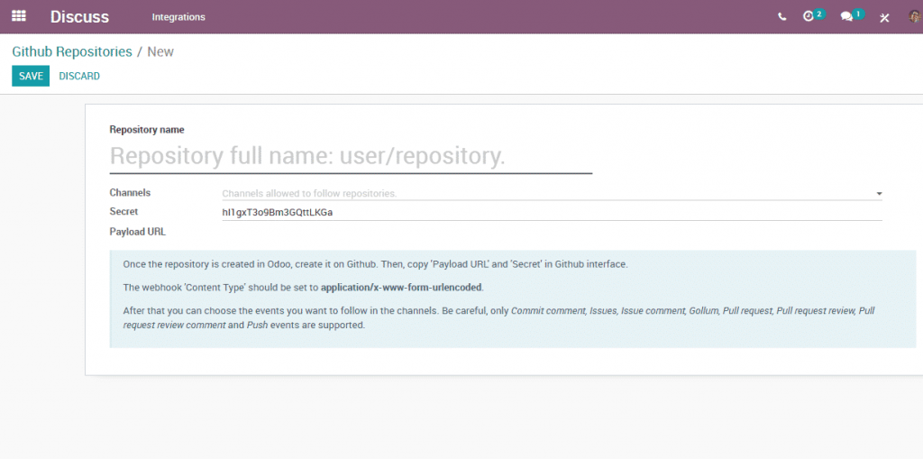 Odoo 12 008 - Discussion module GitHub Repositories