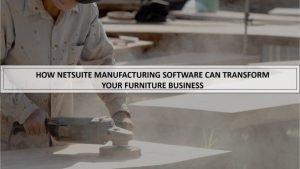 Furniture Manufacturing Software